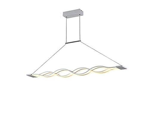 XIXIONG Lighting Personnalité Créative Moderne Led En Forme De S Vague Plafond Suspension Stepless Gradation, Fini Acrylique Chandelier , 40W 100Cm White