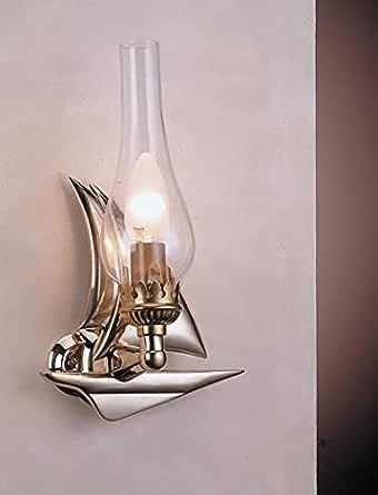 Wandleuchte Fishermen Wandlampe Messing Glas Transparent Rustikal Maritim