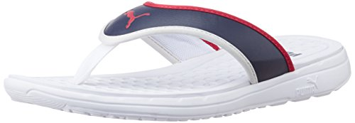 53642b9cb Puma 18882901 Unisex Lycus Dp White High Risk Red And Peacoat Rubber Hawaii  Thong Sandals 7 Uk- Price in India