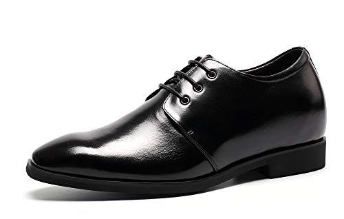 CHAMARIPA Höhe Aufzug Schuhe Stilvolle Kleid Hochzeit Schuhe Lift Schuhe 8cm/3,15 Zoll - L62D09K122D (40, Black) -
