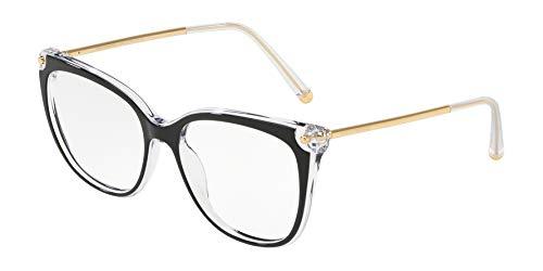 Ray-Ban Damen 0DG3294 Brillengestelle, Schwarz (Top Black On Crystal), 54