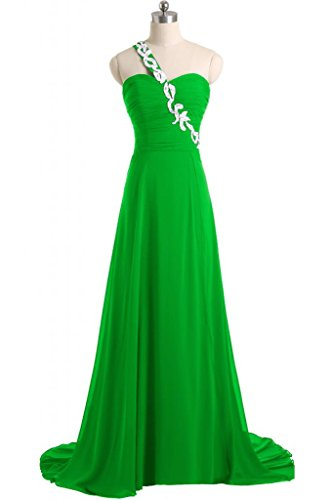 Sunvary A spalle-Line Sweetheart abiti da sera o da cerimonia, con diamanti Verde