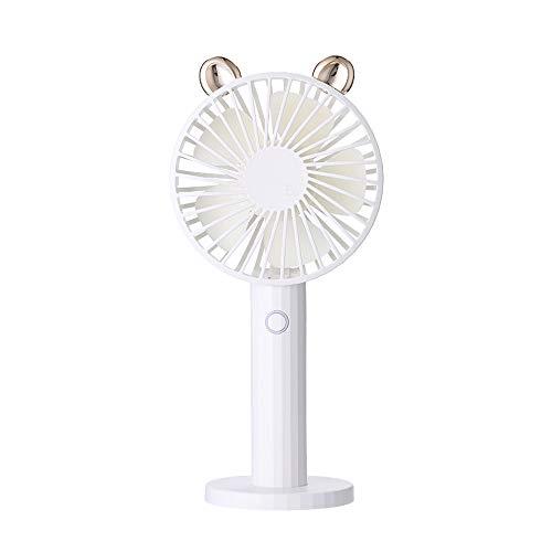 VKTY Cute Hand Held Personal Fan, Shaking Head USB Mini Fan, Handschuh, USB Fan, Small Portable USB Battery Powered Fan, Outdoor Pocket Easy Carry Cooling Fan with Mirror Base