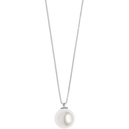 Collana da donna di comete in oro bianco e perla offerta classico cod. glp 564