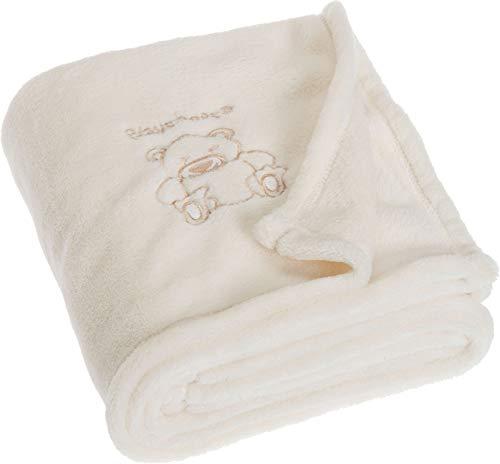 Playshoes Baby und Kinder Fleece-Decke, vielseitig nutzbare Kuscheldecke für Jungen und Mädchen, 75 x 100 cm, mit Bär-Stickung