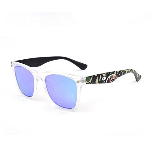Z-P Unisex New Style Plane Coating Lens UV400 Square Frame Sunglasses 57MM