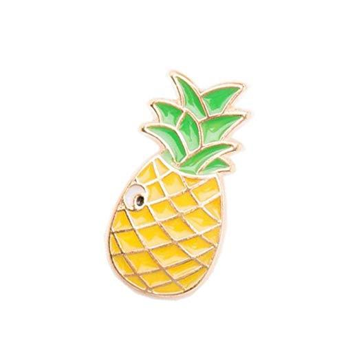 LFDHZ Kreative Cartoon Brille Regenbogen Ananas Wassermelone Hund Brosche Frauen Cute Coat Revers Abzeichen Broschen Männer Metall Pin Button Geschenk Ananas