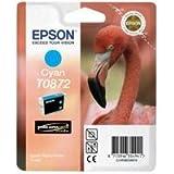Epson Original T0872 UltraChrome Hi-Gloss2 Cyan Ink Cartridge