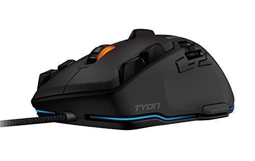 ROCCAT Tyon All Action Multi-Button Gaming Laser-Maus (8200dpi, 14-Tasten, USB) grau/schwarz (Zertifiziert und Generalüberholt) -