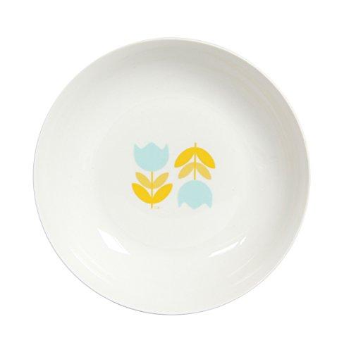 Novastyl 8018327 Lot de 6 Assiettes Creuses Retro Time Decoree en Porcelaine Diametre 20CM-8018327, Céramique, Multi Couleurs, 20 cm