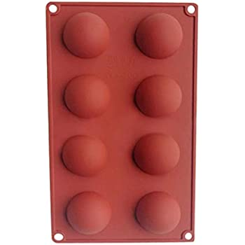 Moule en silicone moitié sphère balle chocolat moule à muffins petit gâteau