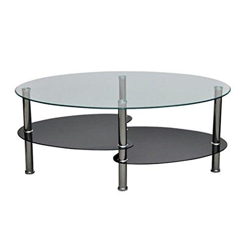 Vislone Tavolino Da Salotto Ovale Design Moderno In Vetro Bianco Soggiorno Tavoli E Tavolini