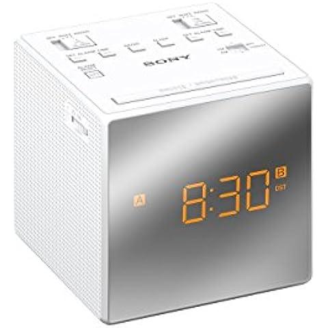 Sony Radio - Despertador (LED, 10,1 cm, 10,2 cm, 10,1 cm, CR2032, Color blanco)