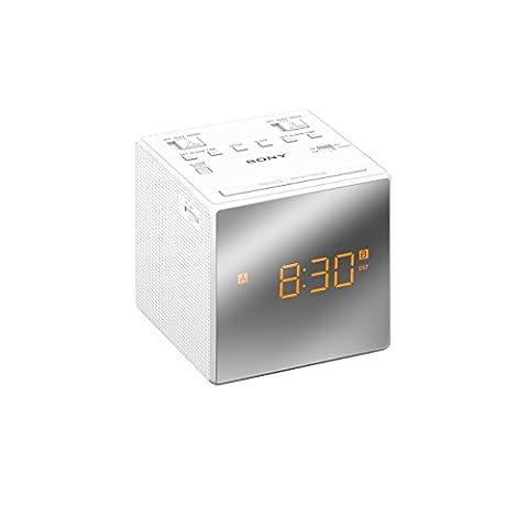 Radio Sony Icf - Sony ICF-C1TW Radio Réveil FM/AM, Double Alarme