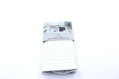 Blanc Tapis D'Égouttoir microfibre env. 40 x 48 cm Plateau égouttoir neuf microfibre