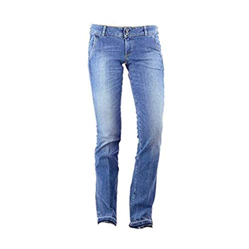 Guess Pantalones Vaqueros para Mujer Lavados Color Azul Longitud de Entrepierna L33 Azul W27