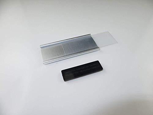 selbstbeschriftbar 10 St/ück Modisches gew/ölbtes Namensschild aus eloxiertem Aluminium mit Magnet Gr/ö/ße 70 x 30 mm Befestigung Name Badge Namensschilder f/ür Kleidung