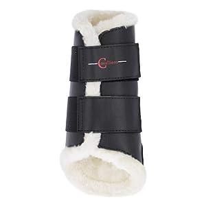 Kerbl 3210545 Dressurgamaschen Fleece vorne schwarz, M