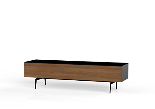 Sonorous STD 360F-BLK-WNT-SL Studio TV-Lowboard für 177,8 cm (70 Zoll) Fernseher schwarz/walnuß