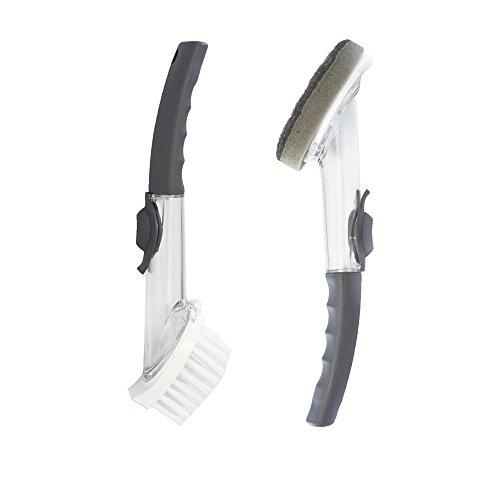 candora 2tragbare Küche Reinigungsbürste Set Waschen Auflaufform mit Refill Seifenspender-Werkzeug