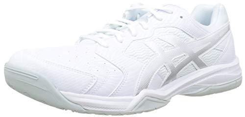 ASICS Herren Gel-Dedicate 6 Tennisschuhe, Weiß (White/Silver 101), 45 EU