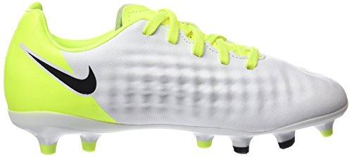 Nike Jr Magista Opus Ii Fg, Scarpe da Calcio Bambino Bianco (White/black-vert Volt-pure Gris Platinum)