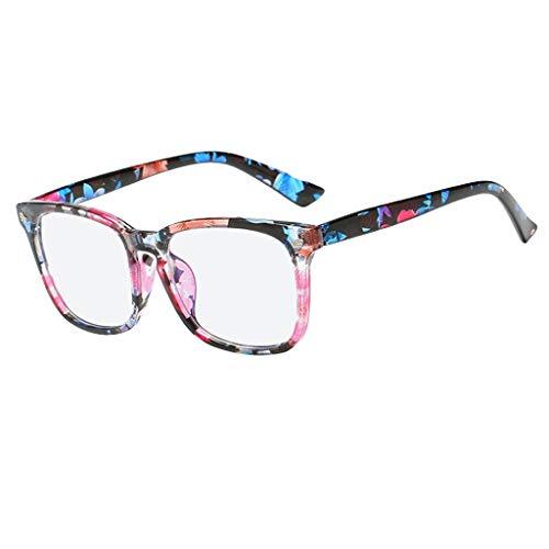 iYmitz Klassische Nerdbrille Glasses Square Nerd Eyeglasses Frame 40er 50er Jahre Pantobrille Vintage Look clear lens(G,Free size)