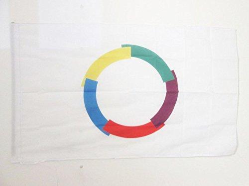 AZ FLAG Flagge FRANKOPHONIE 90x60cm - FRANKOPHONEN Fahne 60 x 90 cm Scheide für Mast - Flaggen Top Qualität