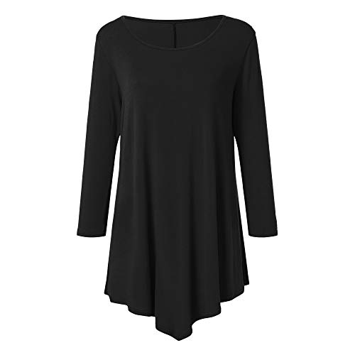 774f1dd95548 SEWORLD Mantel Jacke Sweatshirt Damen Langarm Warmer Freizeit 3 4 Hülse  O-Ausschnitt Einfarbig Pullover Tshirt Tops Bluse für ...