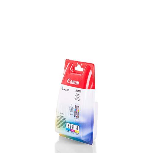 Preisvergleich Produktbild Original Tinte kompatibel zu Canon Pixma MX 700,  CLI-8 0621B026,  3x Premium Drucker-Patrone,  Cyan,  Magenta,  Gelb,  3 x 13 ml