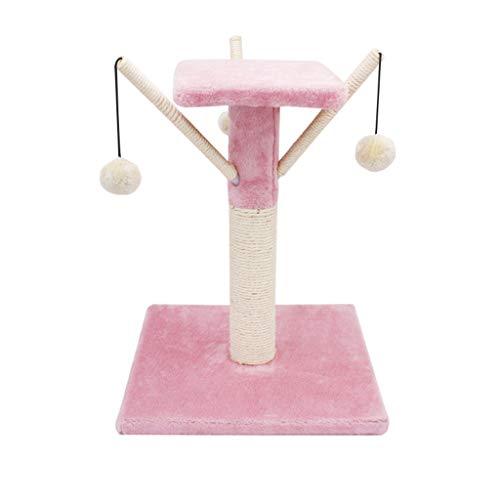 Haustiernest Kleine Katze Kletterrahmen Katze Scratch Board Katze Kratzbaum Katze Baum Katze Turm Katze Rahmen Katzenstreu Käfig Katze Krallen Katze Spielzeug - rosa