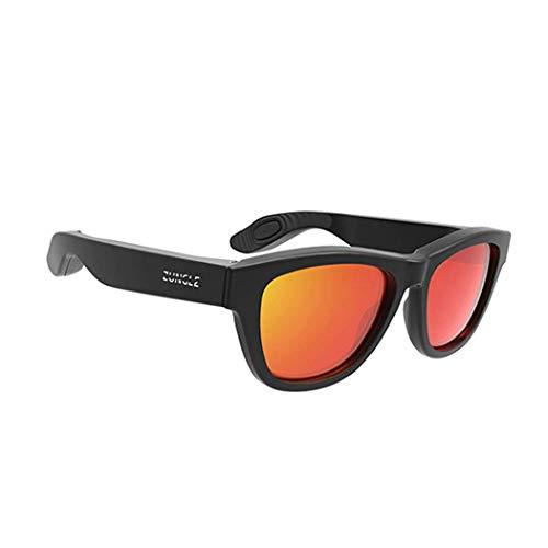 Yuany Knochenleitung Headset Brille USB Lade Wireless Bluetooth Headset Sport Sonnenbrille Kopf montiert Ohr Sport Ohr Knochen Outdoor Sport Fahren Angeln Anti-Glare Anti-UV