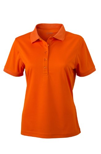 Ladies' Active Polo im digatex-package dark-orange