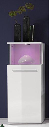 Wohnwand weiss mit LED Farbwechsel – 228 cm - 8
