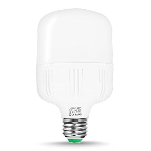 techgomade Edison Schraube E27-LED-Birne, entspricht 30W, 260W Glühbirne, Tag weiß 6000K, 3400lm, kommerzielle und Private Leuchtmittel, 1Stück (Birne-installer)