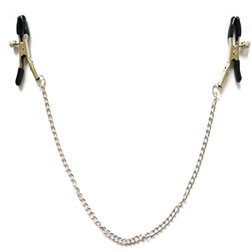 Healifty Abrazaderas para pezones con cadena de metal Parejas para mujeres juguetes para ligar