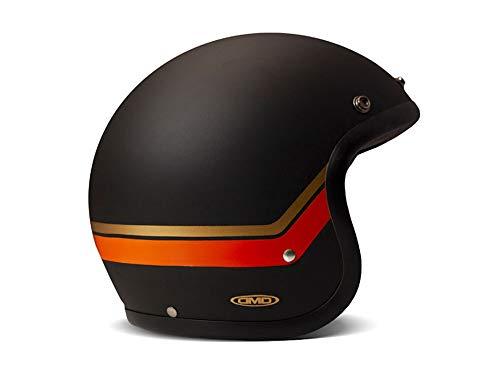 DMD Helm Vintage Sunset schwarz orange matt, XL