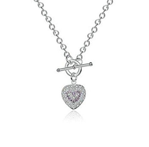 Aeici Schmuck Versilbert-Basis Anhänger Halsketten für Frauen Herzform Halskette Silber Dimension: 18In - Gold Eule Kette Origami