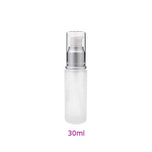 Leere Lotion Creme Pumpe Milchglas Flasche Behälter 30/50/100ml 30ML