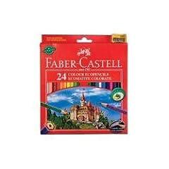 Idea Regalo - Faber Castell 120124 Matite Colorate, Confezione 24