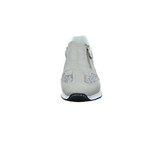 Rieker 56061, Sneakers Donna Grau