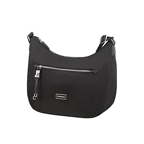 SAMSONITE Karissa - Hobo Bag M Borsa Messenger, 36 cm, Nero (Black)