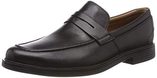 Clarks un aldric step, mocassini uomo, nero (black leather-), 47 eu