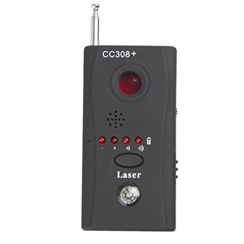 CC308+ Full-frequency Wireless Anti-spy RF Signal Bug Detector Almighty Hidden Camera Finder Auto-detection Function Adjustable Sensitivity by Shared Dream Electronics