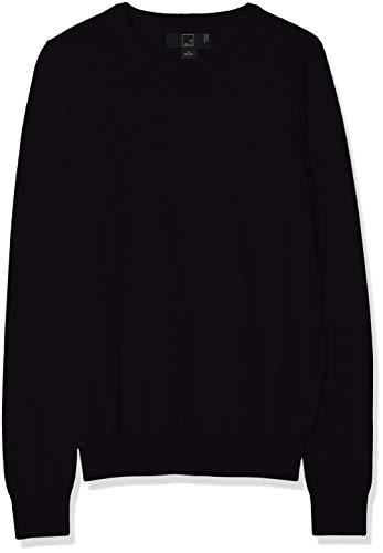 MERAKI Baumwoll-Pullover Damen mit Rundhals, Schwarz (Black), 42 (Herstellergröße: X-Large)