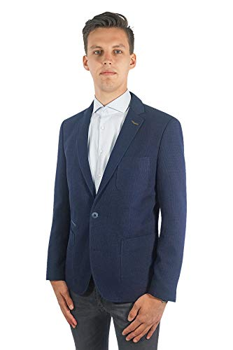 PME Legend Herren Sakko Carrier Fighter Blazer Jackett Anzug Jacke Klassisch Sportlich Regular Blau, Größe:M, Farbe:Dunkelblau
