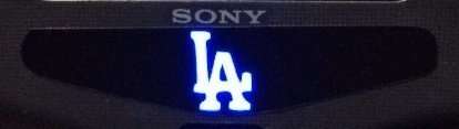 S4 Designer Controller LED Light Bar Decal Vinyl Stickers Playstation 4 B Game Sports Fan All Star Baseball Team - MLB LA Los Angeles Dodgers Logo Sign (1pc) by MightyStickers (Mlb Team Baseballs)
