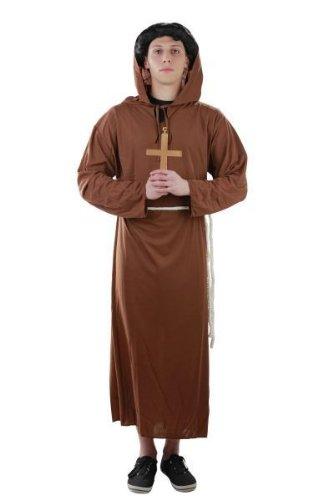 Mönch Kostüm, Gr. S - XXXXL