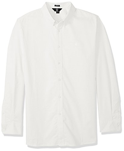 Volcom Men's Oxford Stretch Long Sleeve Button Down Shirt