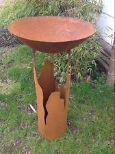 Feuerschale Pflanzschale 50cm 1mm mit Ständer H80cm,Garten,Edelrost Metall deko
